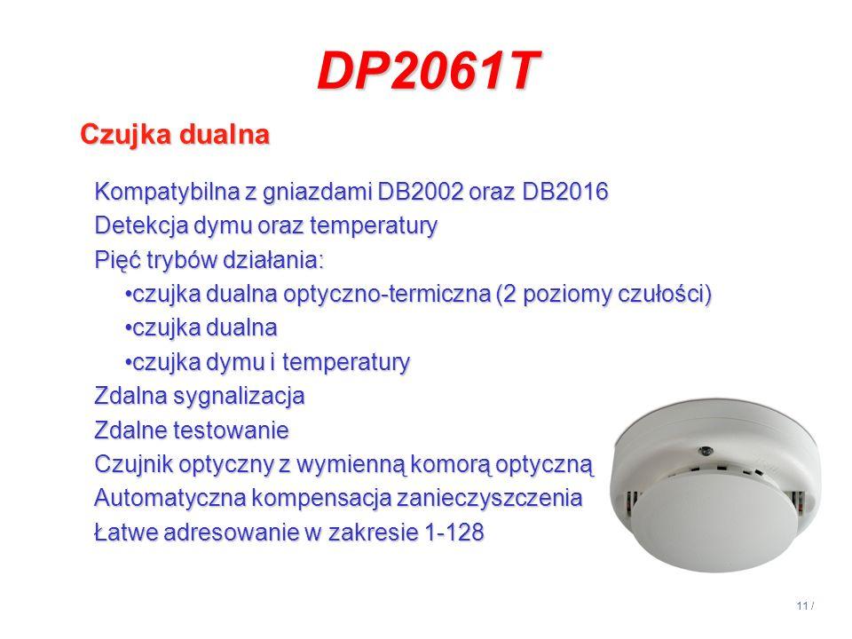 DP2061T Czujka dualna Kompatybilna z gniazdami DB2002 oraz DB2016