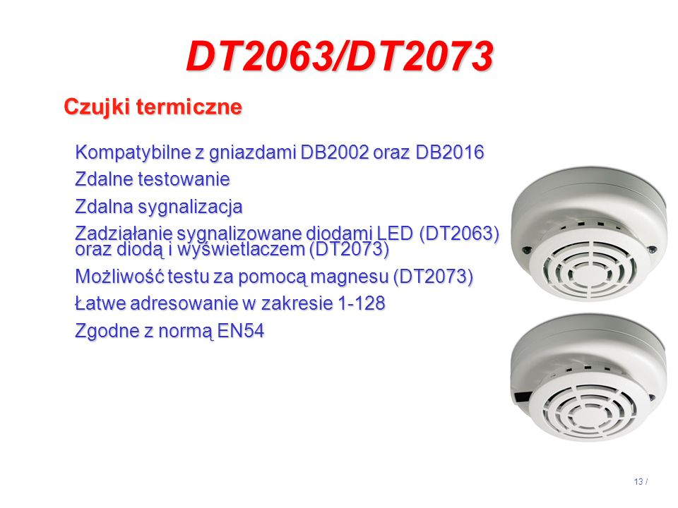 DT2063/DT2073 Czujki termiczne