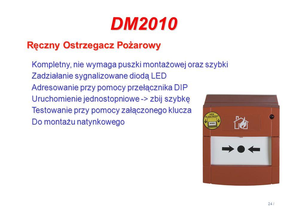 DM2010 Ręczny Ostrzegacz Pożarowy