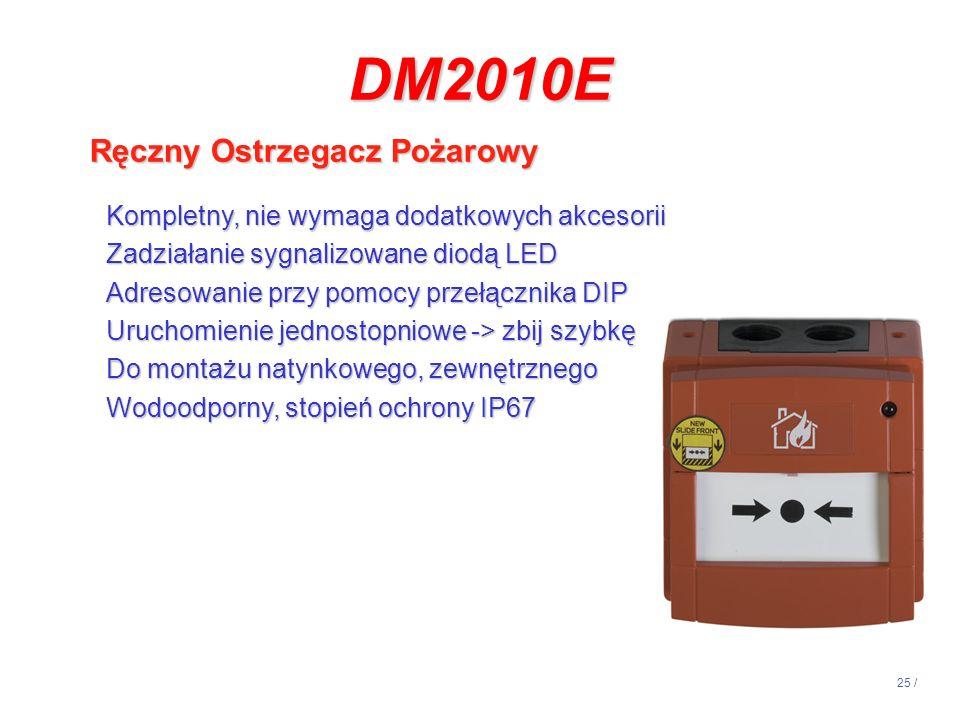 DM2010E Ręczny Ostrzegacz Pożarowy