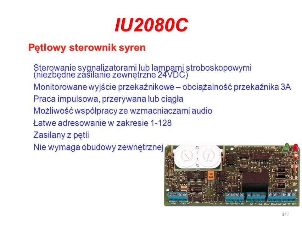 IU2080C Pętlowy sterownik syren