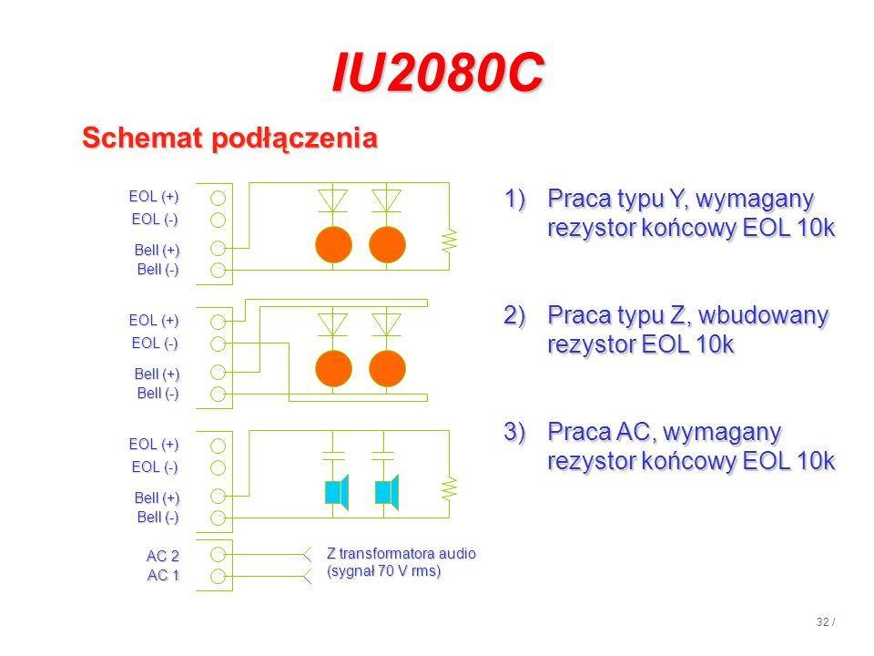 IU2080C Schemat podłączenia