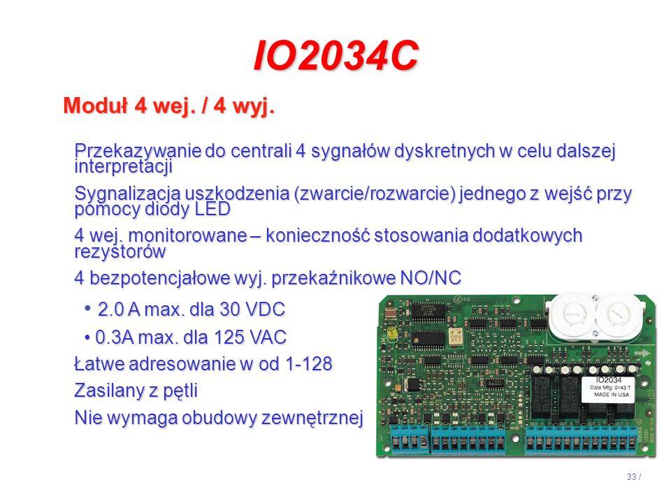 IO2034C Moduł 4 wej. / 4 wyj. 2.0 A max. dla 30 VDC