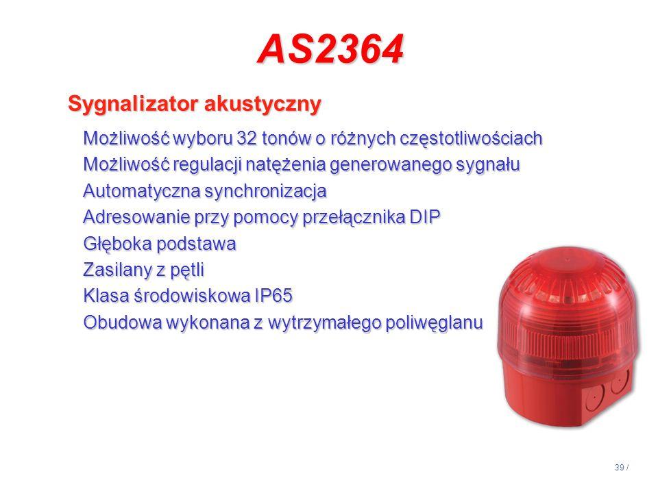AS2364 Sygnalizator akustyczny