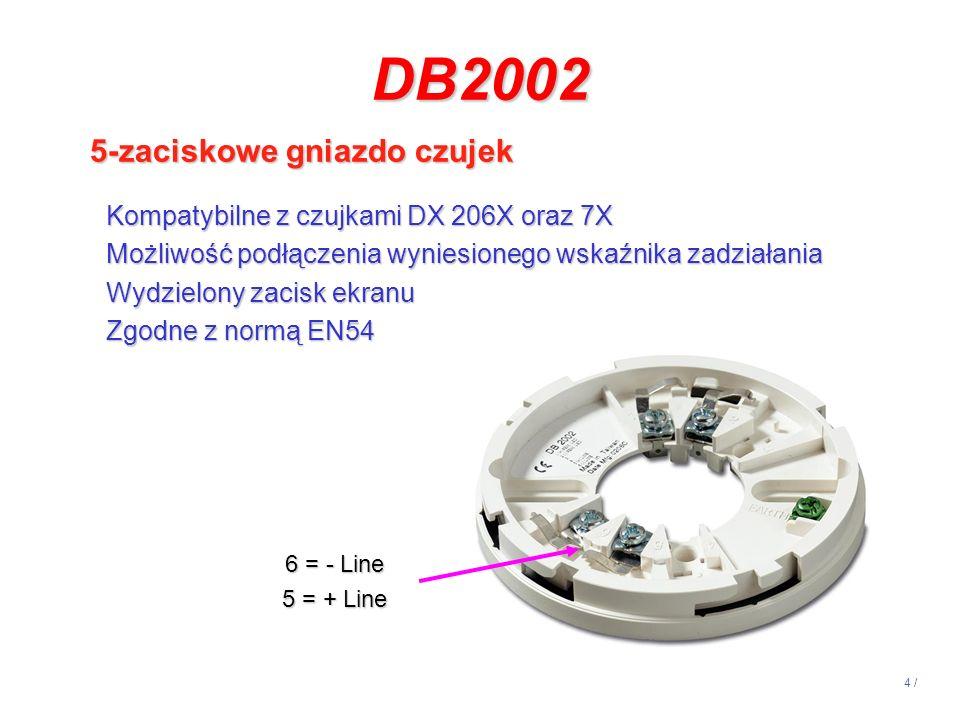 DB2002 5-zaciskowe gniazdo czujek