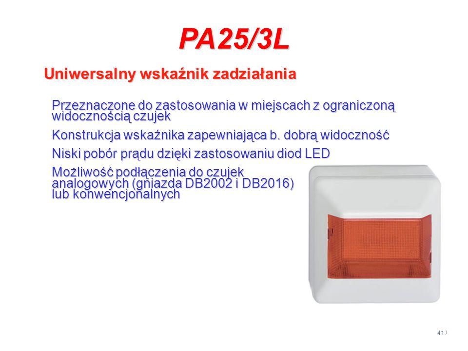 PA25/3L Uniwersalny wskaźnik zadziałania