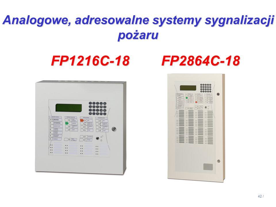 Analogowe, adresowalne systemy sygnalizacji pożaru