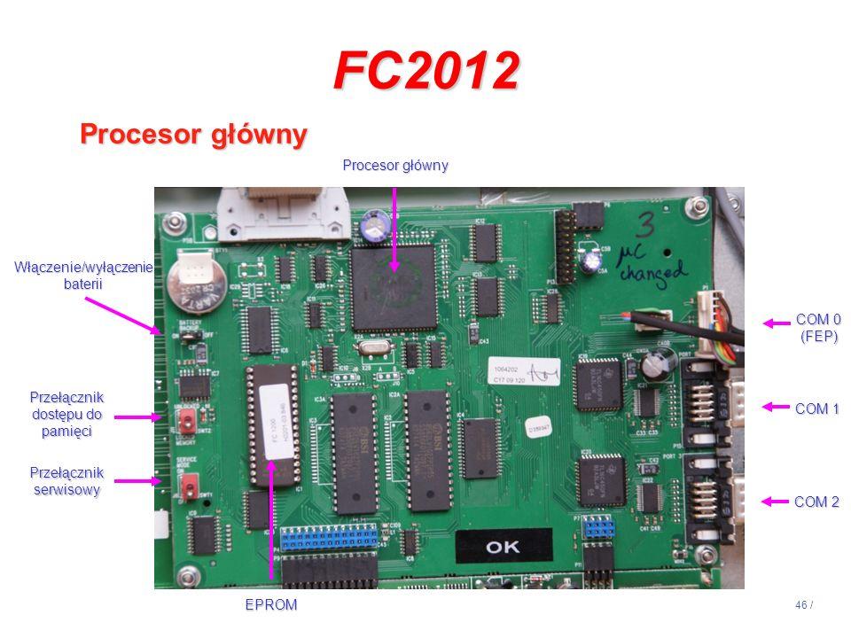 FC2012 Procesor główny 14:13 Procesor główny