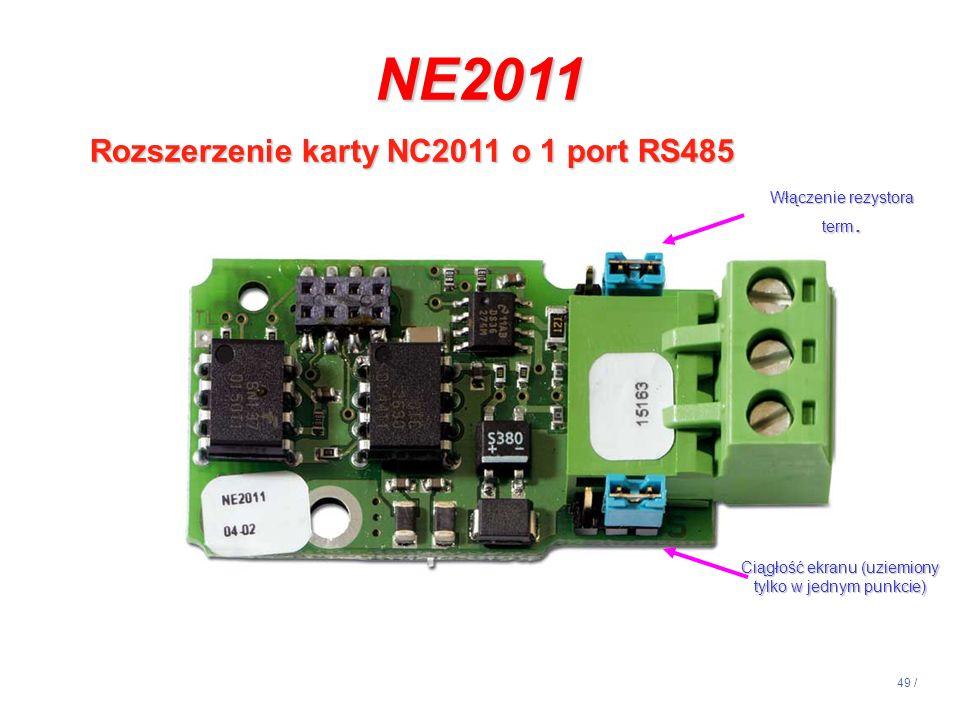 NE2011 Rozszerzenie karty NC2011 o 1 port RS485 14:13