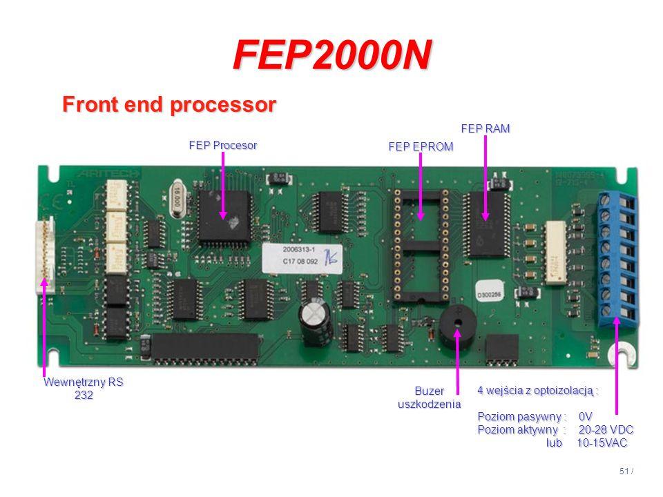 FEP2000N Front end processor 14:13 FEP RAM FEP Procesor FEP EPROM