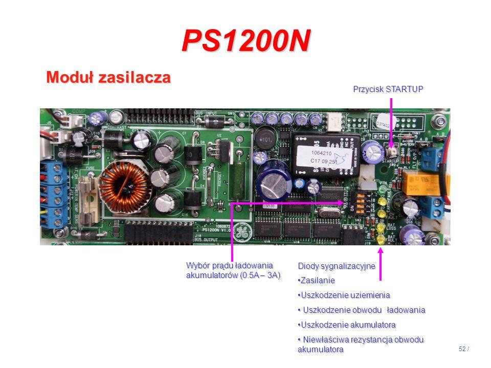PS1200N Moduł zasilacza Przycisk STARTUP
