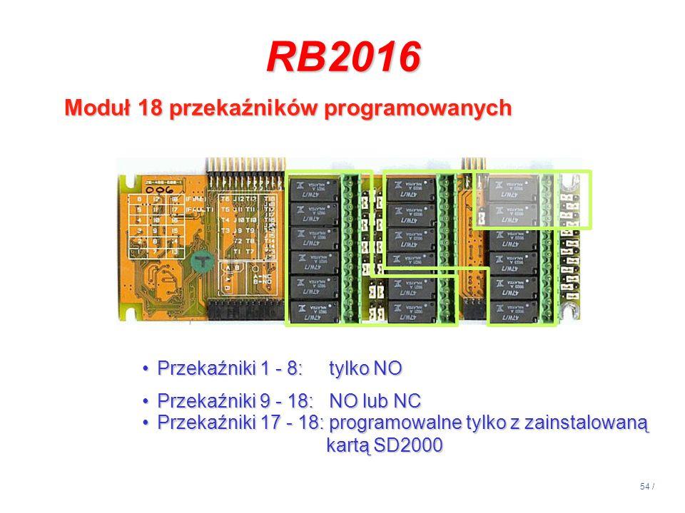 RB2016 Moduł 18 przekaźników programowanych