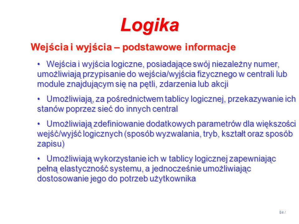 Logika Wejścia i wyjścia – podstawowe informacje