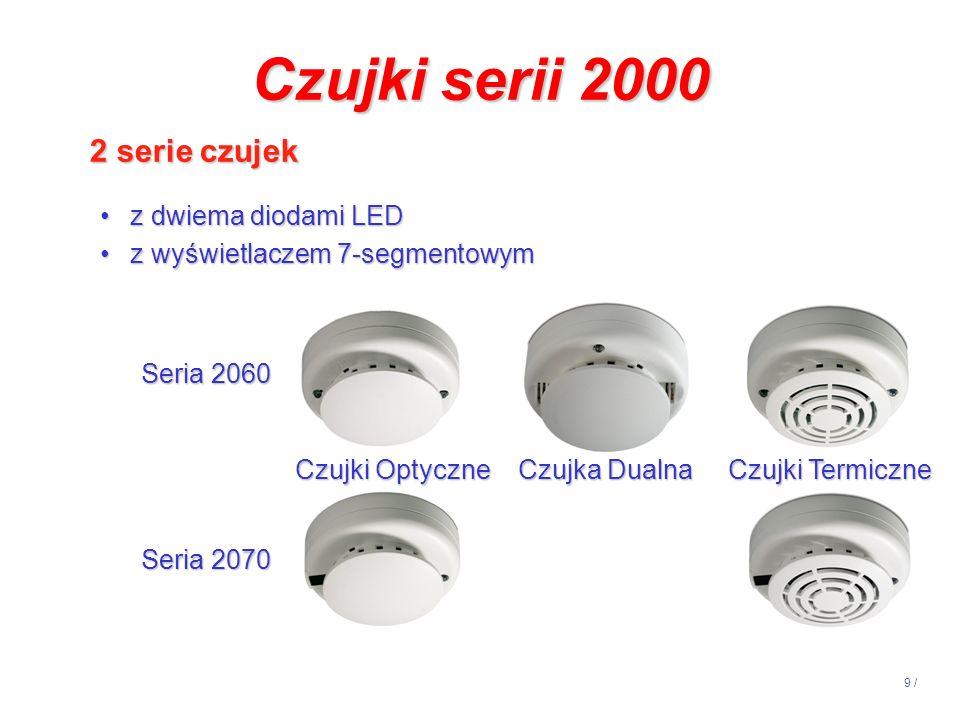 Czujki serii 2000 2 serie czujek z dwiema diodami LED