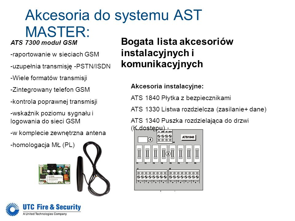 Akcesoria do systemu AST MASTER: