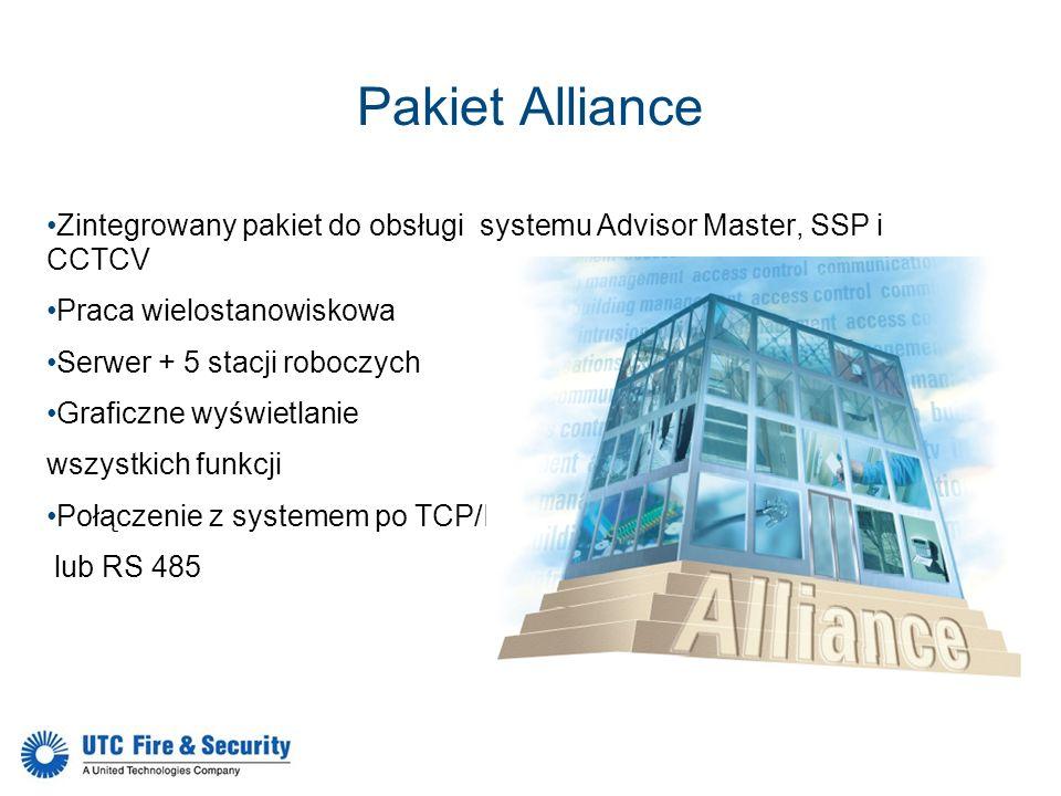Pakiet Alliance Zintegrowany pakiet do obsługi systemu Advisor Master, SSP i CCTCV. Praca wielostanowiskowa.