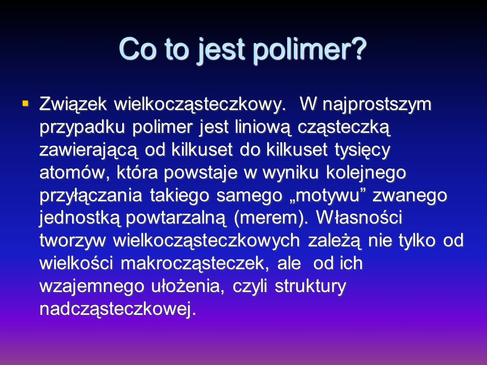 Co to jest polimer