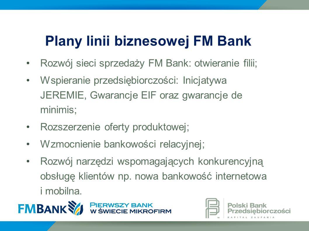 Plany linii biznesowej FM Bank