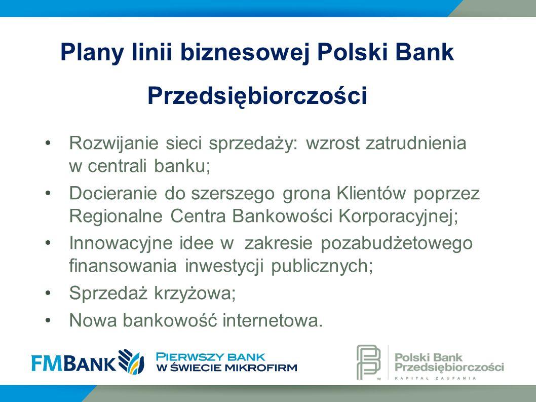 Plany linii biznesowej Polski Bank Przedsiębiorczości