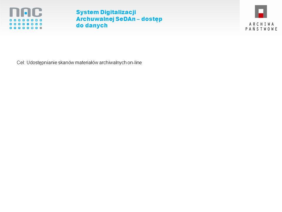 System Digitalizacji Archuwalnej SeDAn – dostęp do danych