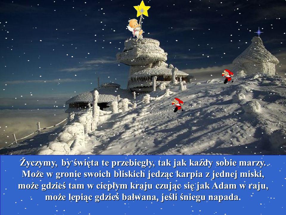 Życzymy, by święta te przebiegły, tak jak każdy sobie marzy