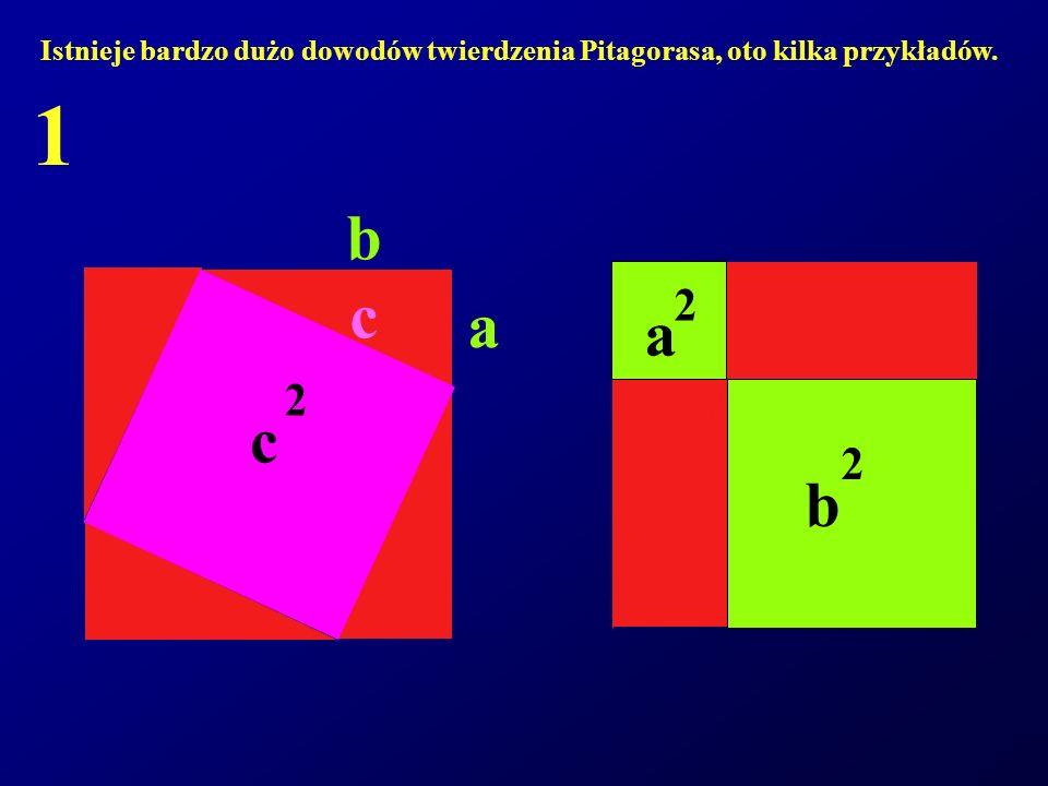 Istnieje bardzo dużo dowodów twierdzenia Pitagorasa, oto kilka przykładów.