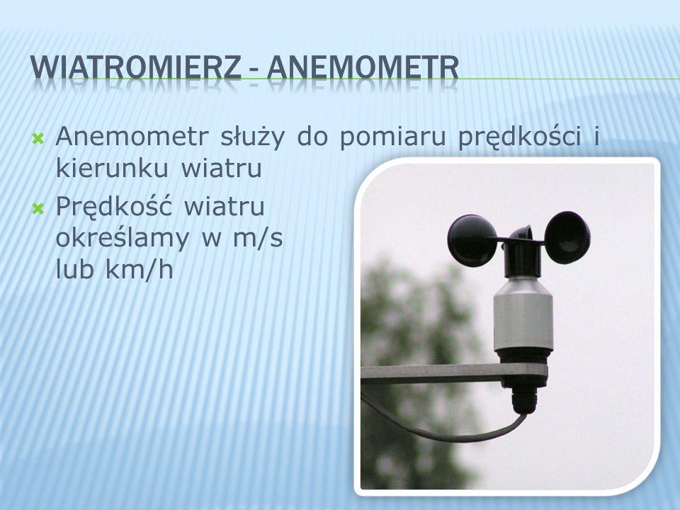 WIATROMIERZ - Anemometr