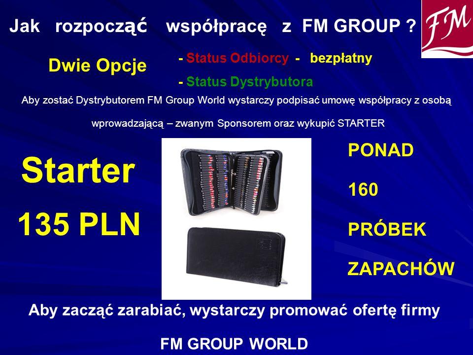 Starter 135 PLN Jak rozpocząć współpracę z FM GROUP Dwie Opcje PONAD