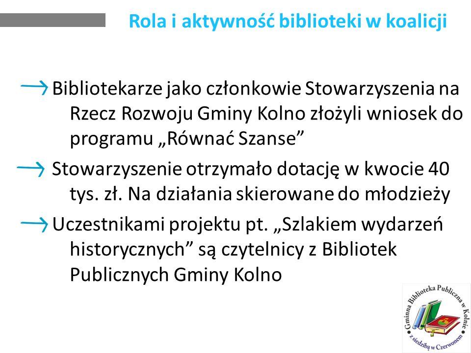 Rola i aktywność biblioteki w koalicji