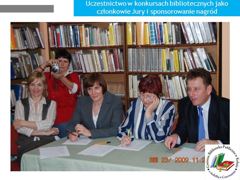 Uczestnictwo w konkursach bibliotecznych jako członkowie Jury i sponsorowanie nagród