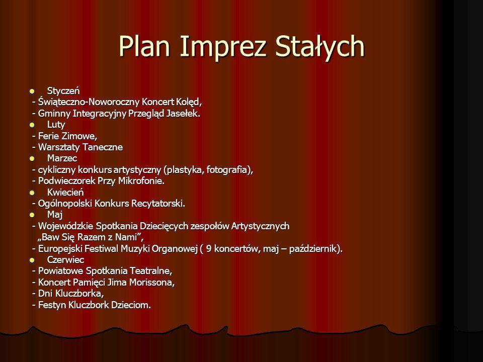 Plan Imprez Stałych Styczeń - Świąteczno-Noworoczny Koncert Kolęd,