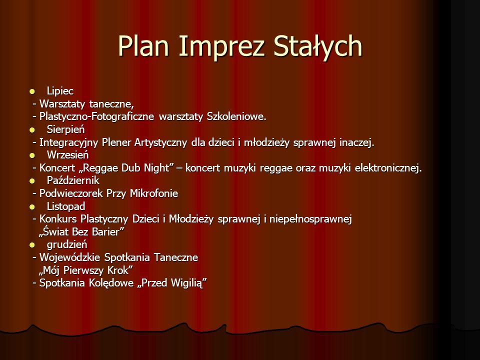Plan Imprez Stałych Lipiec - Warsztaty taneczne,