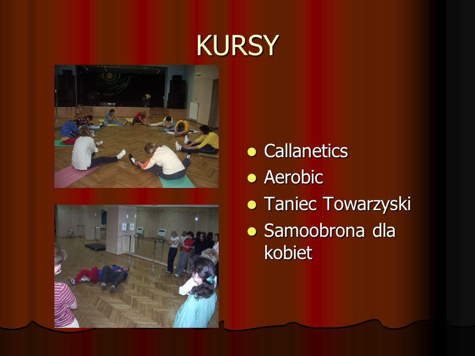 KURSY Callanetics Aerobic Taniec Towarzyski Samoobrona dla kobiet