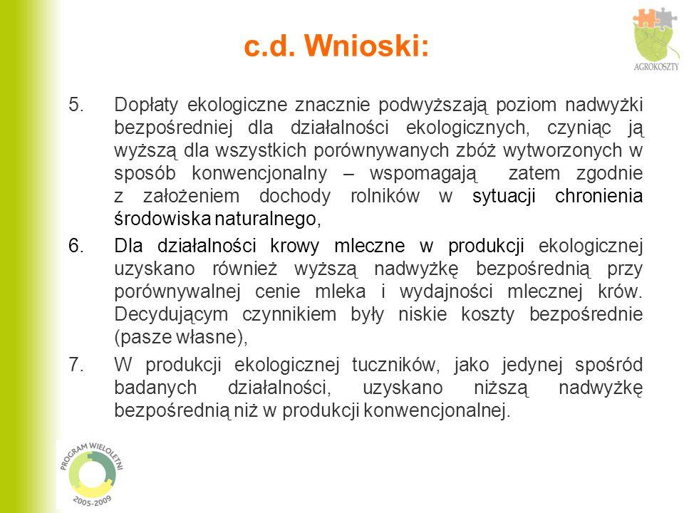 c.d. Wnioski: