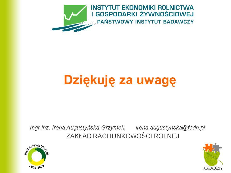 mgr inż. Irena Augustyńska-Grzymek, irena.augustynska@fadn.pl