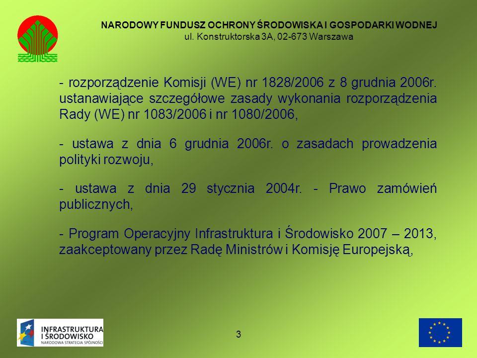 - ustawa z dnia 29 stycznia 2004r. - Prawo zamówień publicznych,