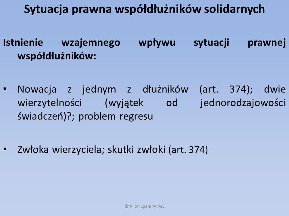 Sytuacja prawna współdłużników solidarnych