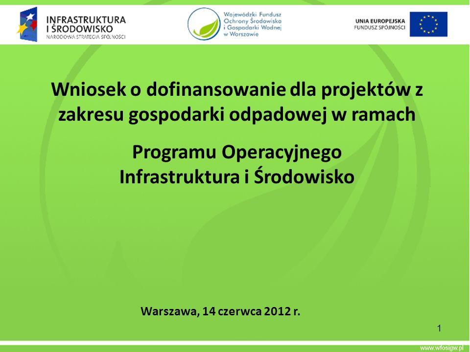 Programu Operacyjnego Infrastruktura i Środowisko