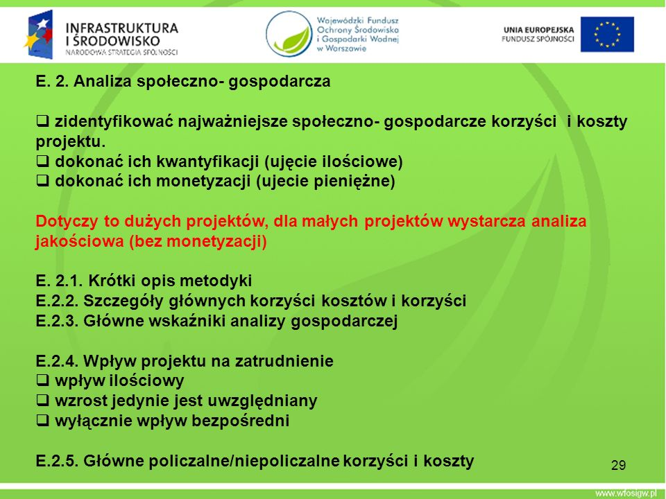 E. 2. Analiza społeczno- gospodarcza