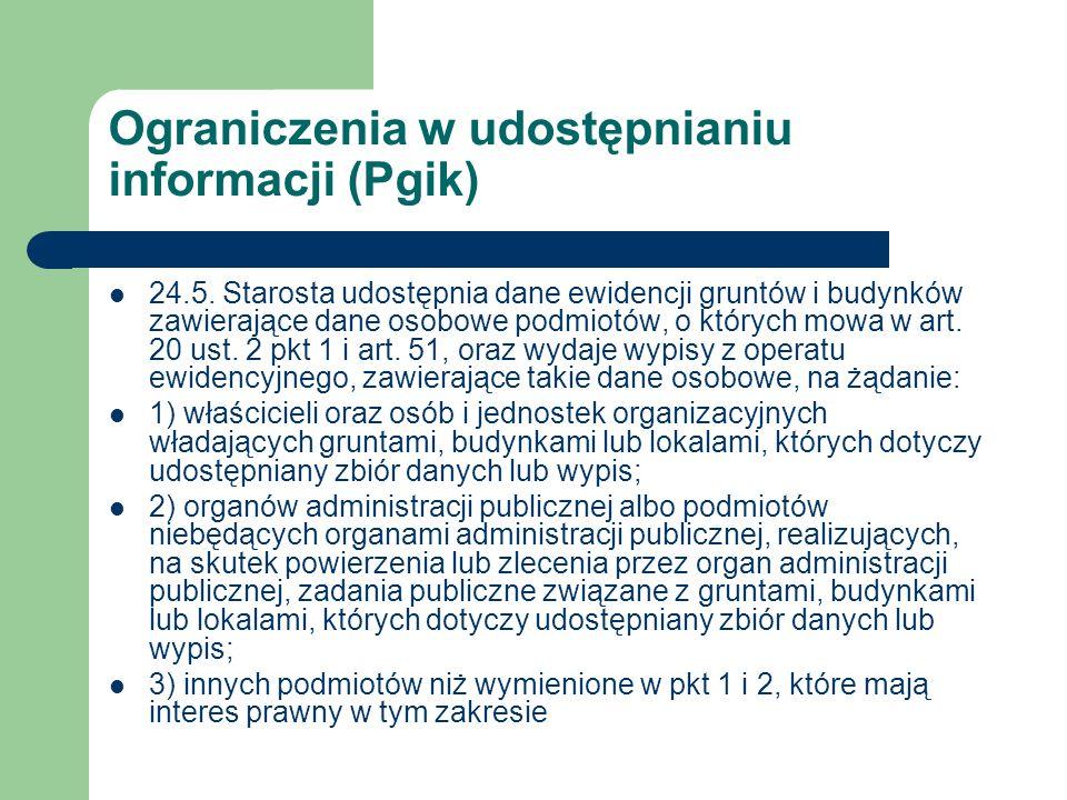Ograniczenia w udostępnianiu informacji (Pgik)