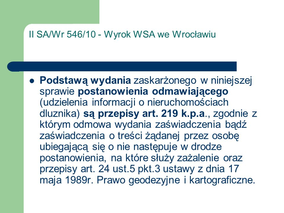 II SA/Wr 546/10 - Wyrok WSA we Wrocławiu