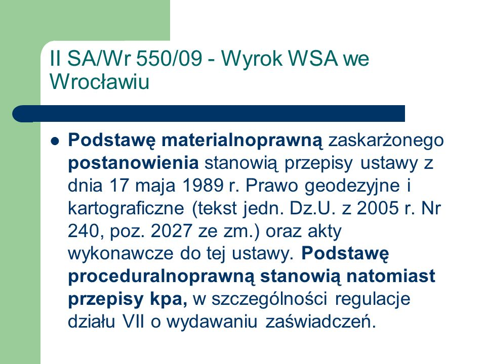 II SA/Wr 550/09 - Wyrok WSA we Wrocławiu