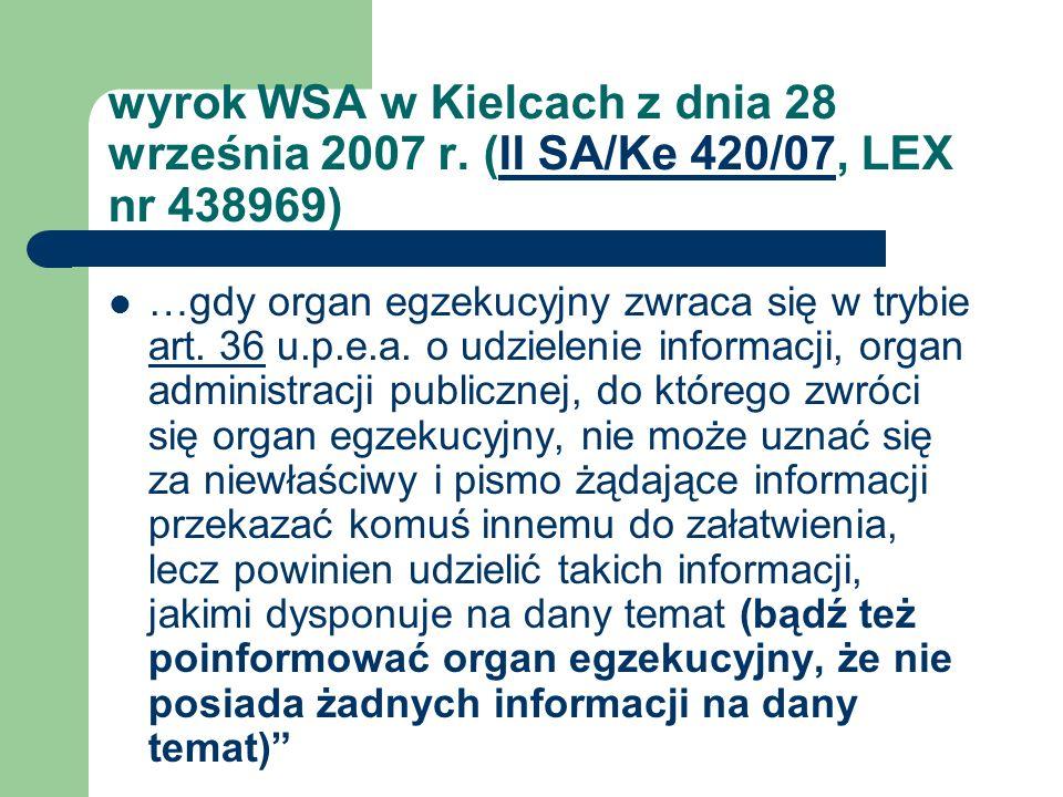 wyrok WSA w Kielcach z dnia 28 września 2007 r