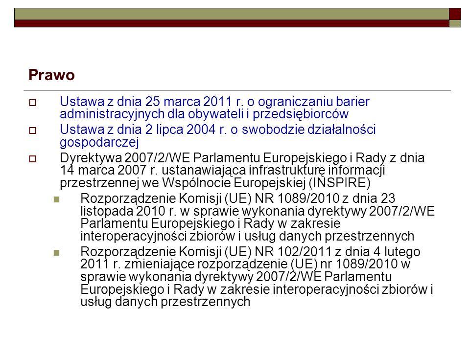 Prawo Ustawa z dnia 25 marca 2011 r. o ograniczaniu barier administracyjnych dla obywateli i przedsiębiorców.