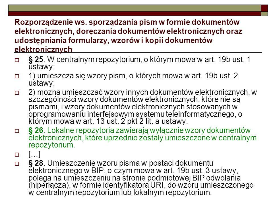 Rozporządzenie ws. sporządzania pism w formie dokumentów elektronicznych, doręczania dokumentów elektronicznych oraz udostępniania formularzy, wzorów i kopii dokumentów elektronicznych