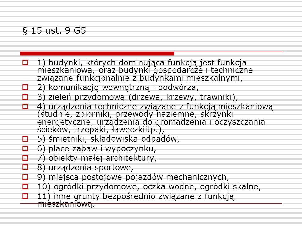 § 15 ust. 9 G5
