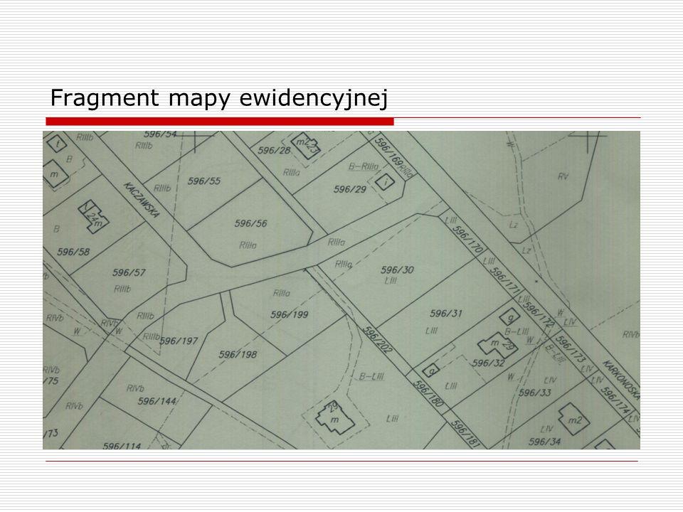 Fragment mapy ewidencyjnej