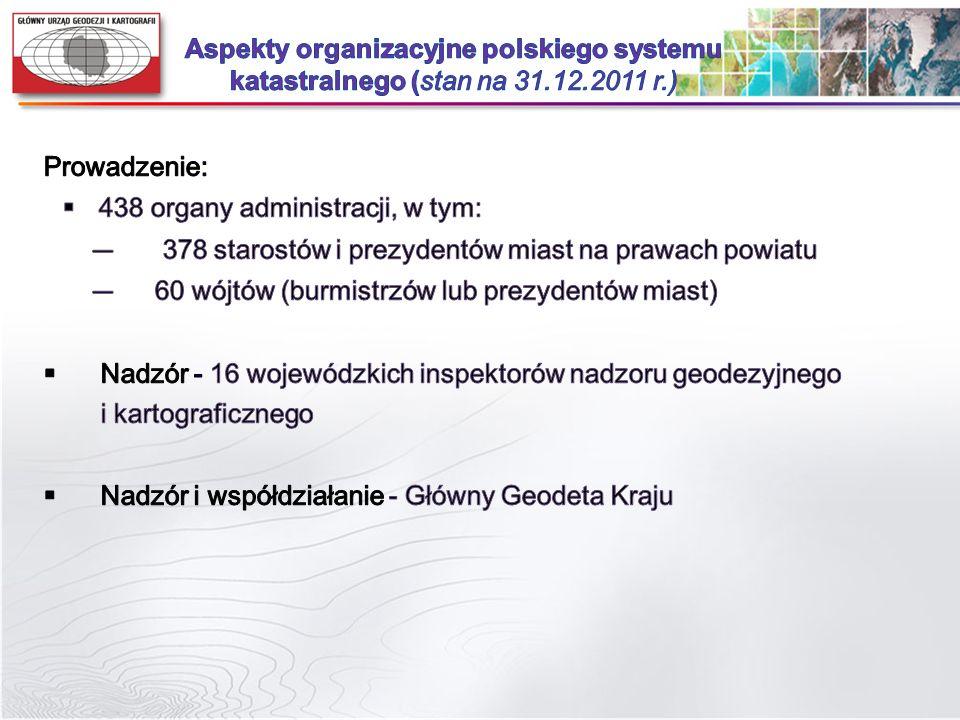 Aspekty organizacyjne polskiego systemu katastralnego (stan na 31. 12