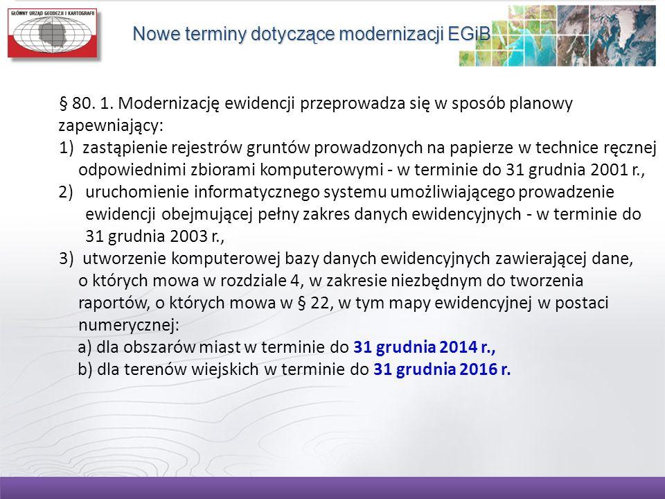 Nowe terminy dotyczące modernizacji EGiB