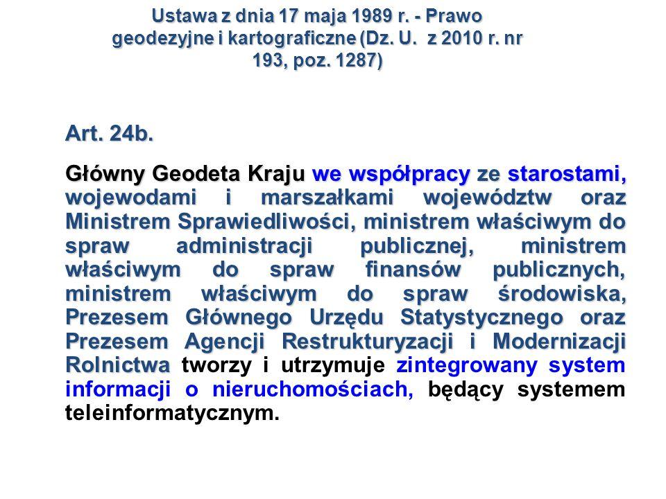 Ustawa z dnia 17 maja 1989 r. - Prawo geodezyjne i kartograficzne (Dz
